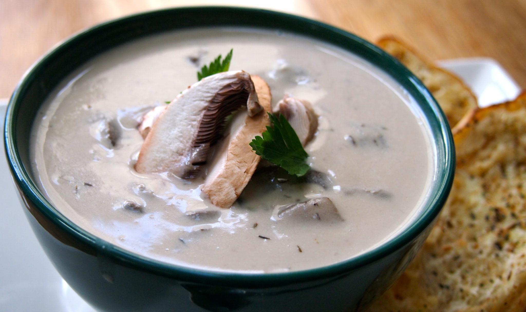 Cashew Cream of Mushroom Soup