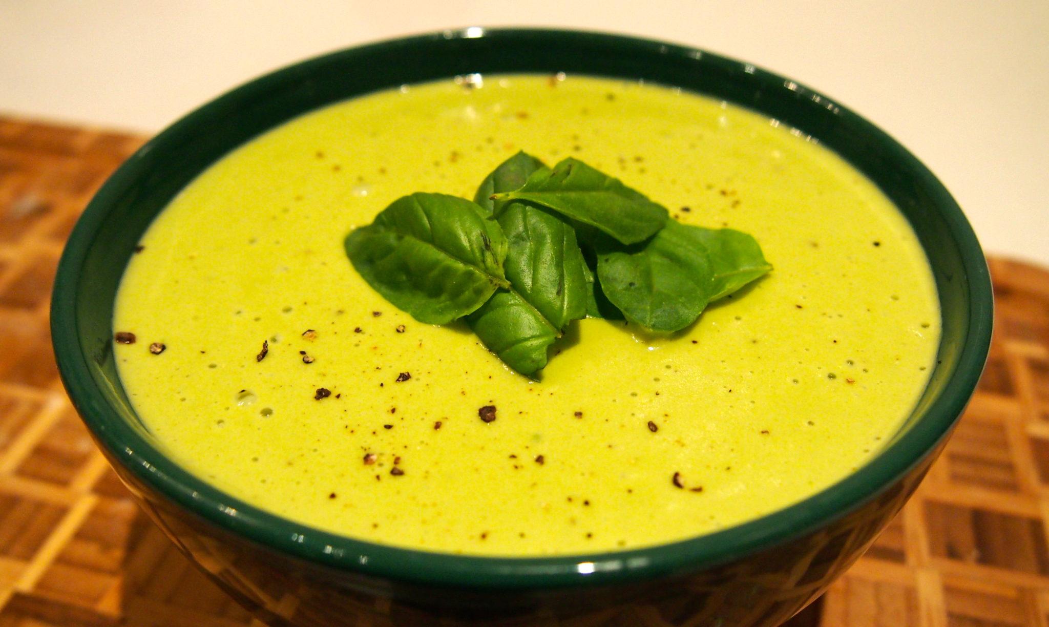 Vegan Potato & Pesto Soup