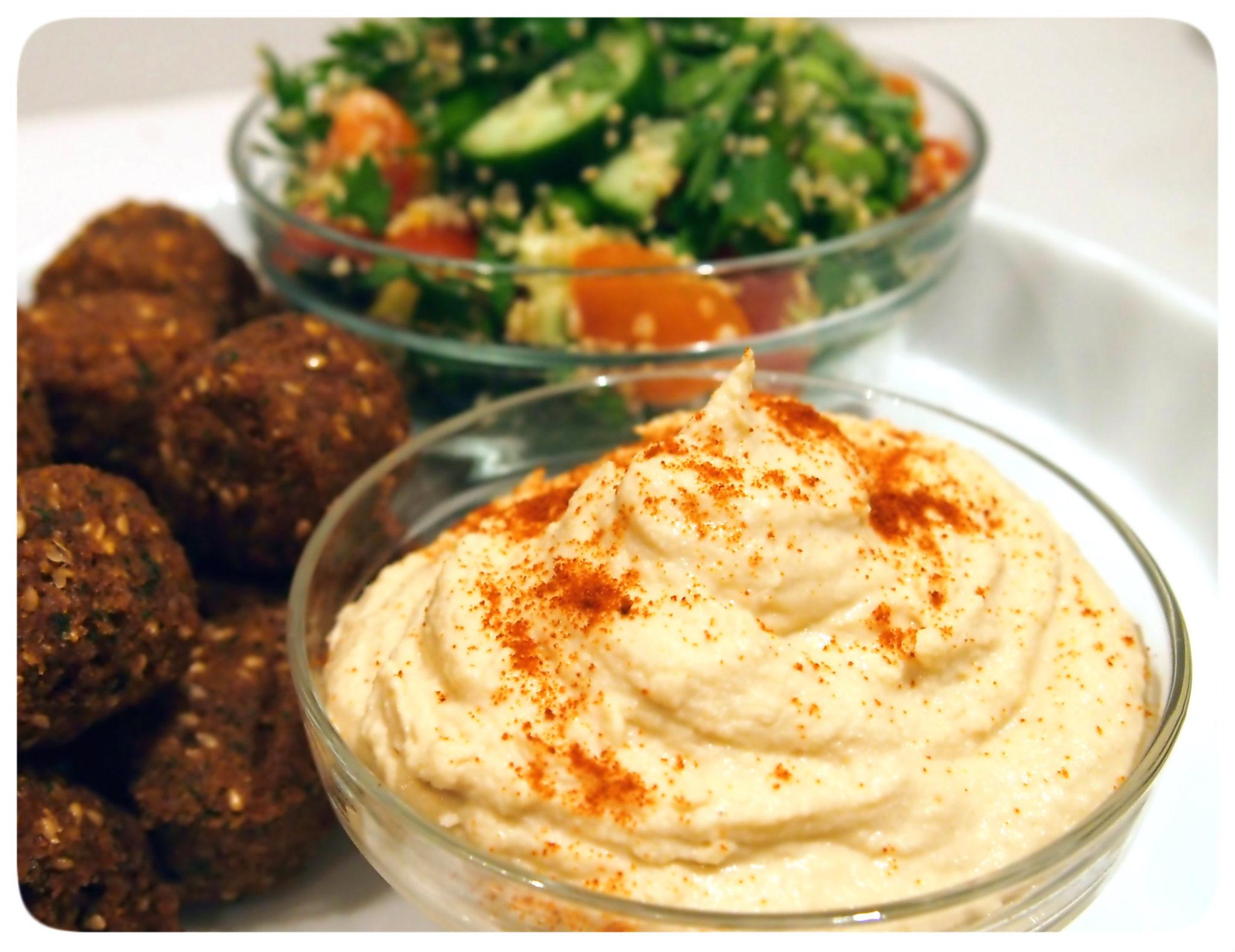 Egyptian Mezze Platter - Hummus and Quinoa Tabbouleh ...