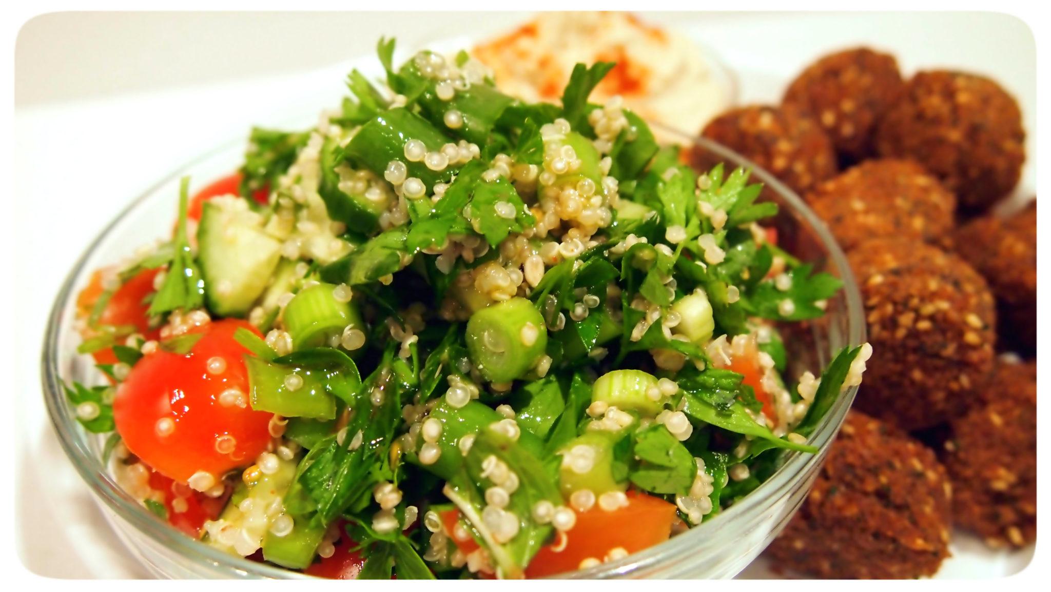 ... - Hummus and Quinoa Tabbouleh - Vegan Sparkles with Rebecca Weller