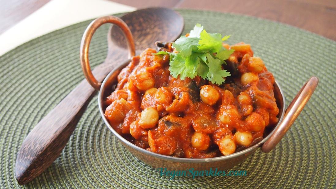 Eggplant Chana Masala