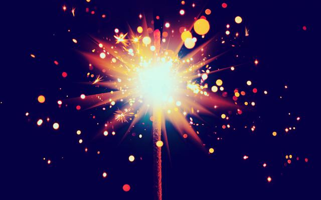 farewell 2013 sparkler