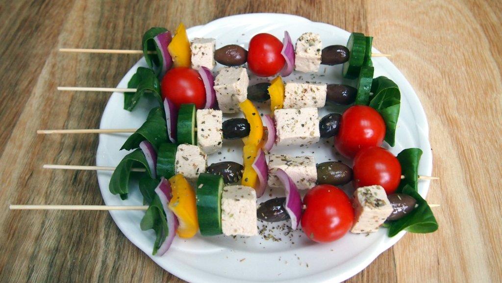 Greek Salad Kebabs