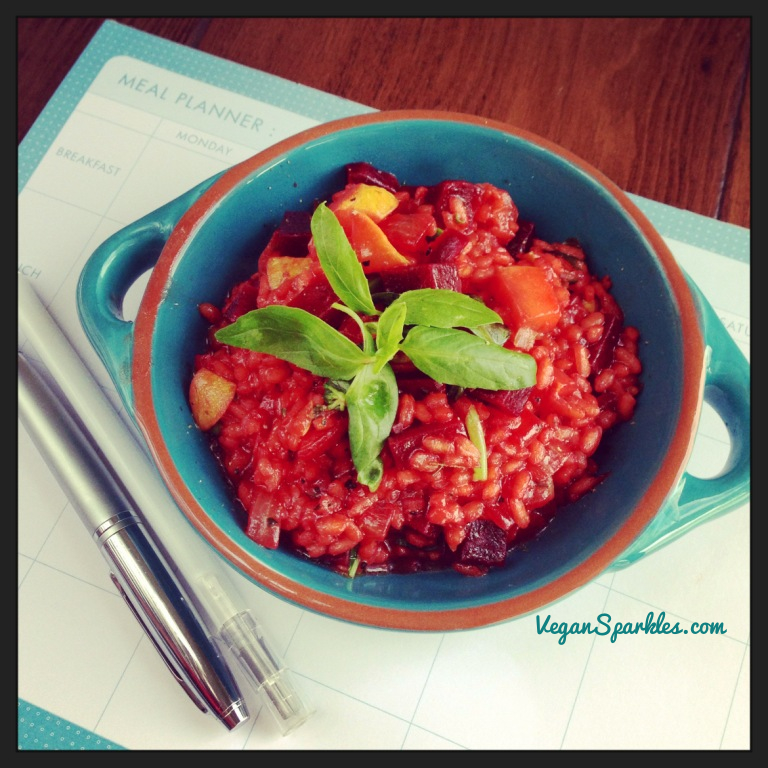 Beet, Sweet Potato & Basil Risotto