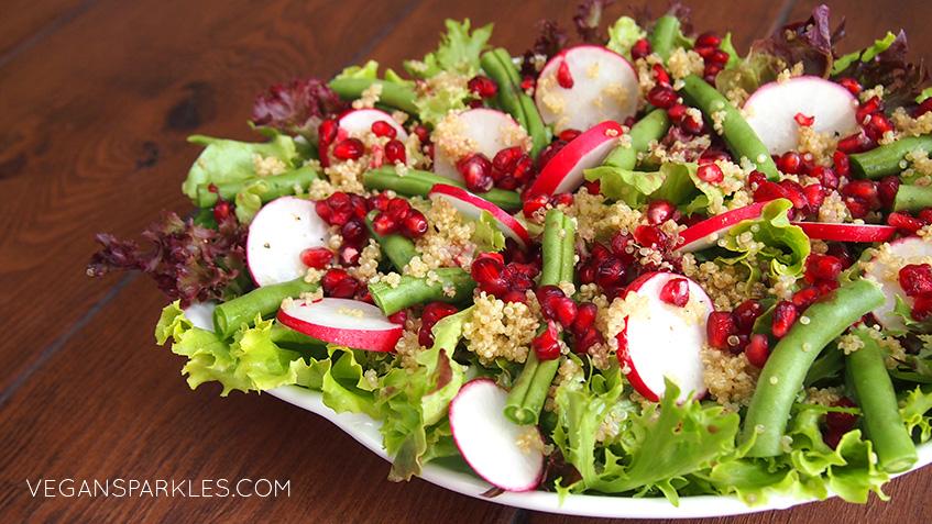 Quinoa, Pomegranate & Radish Salad